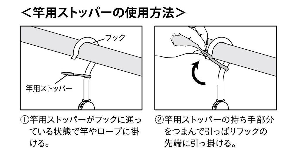 竿用ストッパーの使用方法