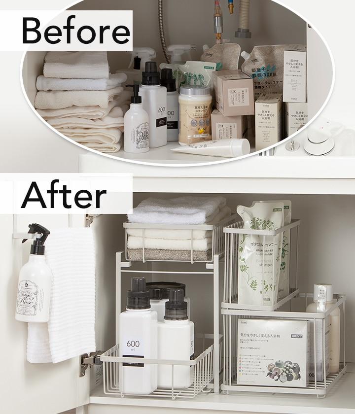 台 収納 洗面