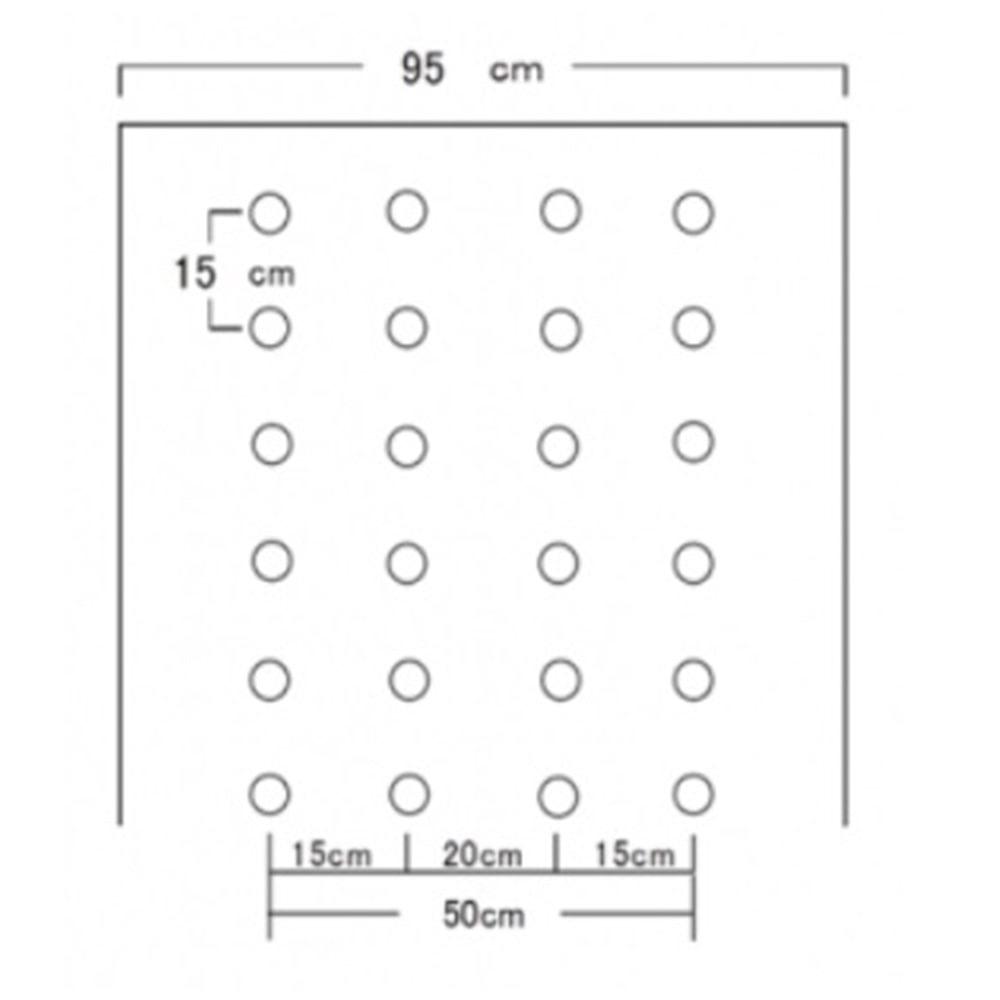 ホーリーシート N9415 60φ 並列穴 200m 5本P