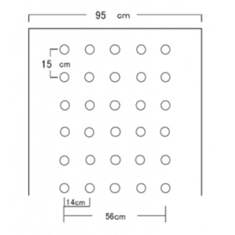 ホーリーシート N9515 60φ 並列穴 200m 5本P