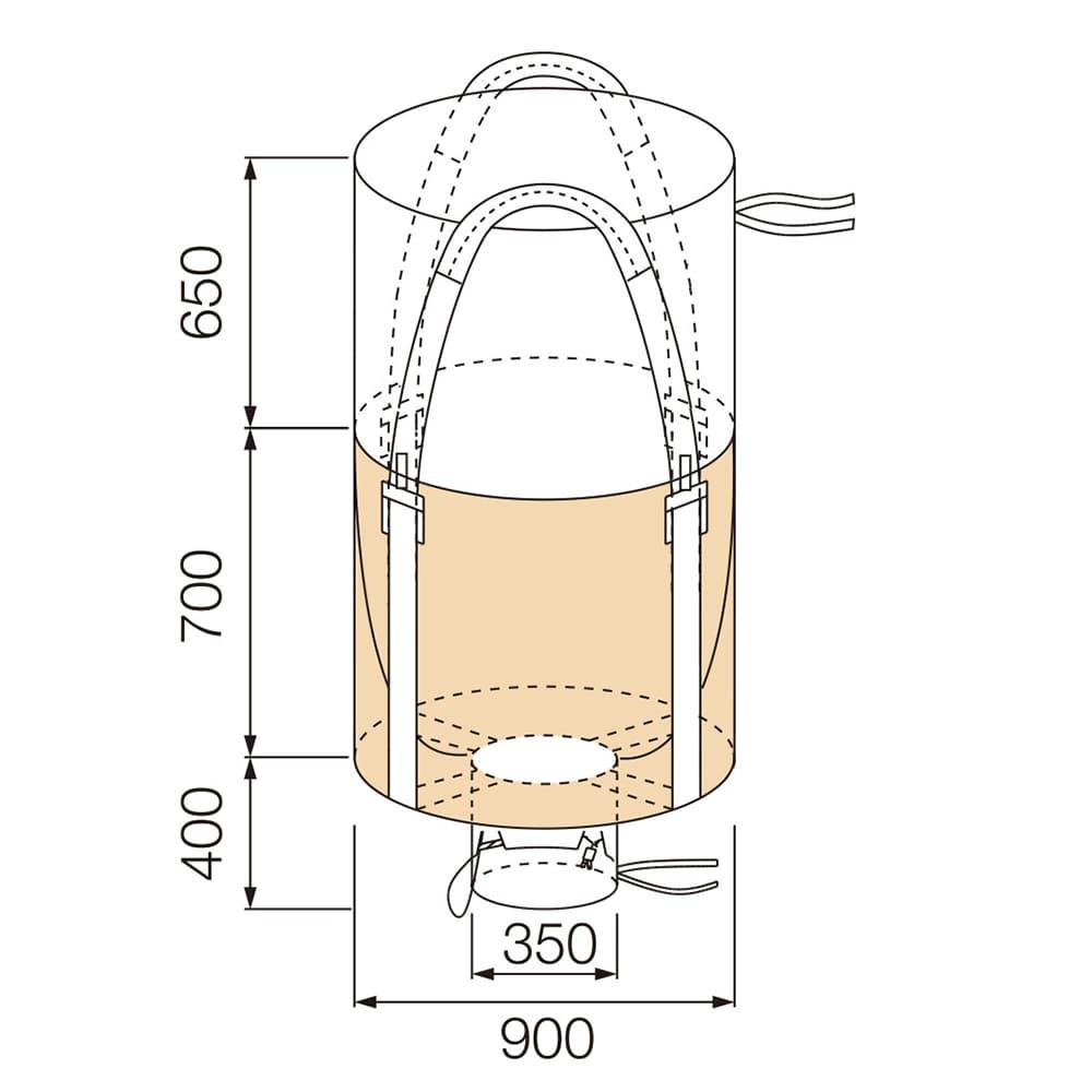 【ケース販売 】フレコンバッグ 丸型 700KHR[4965815584601×10枚]【別送品】