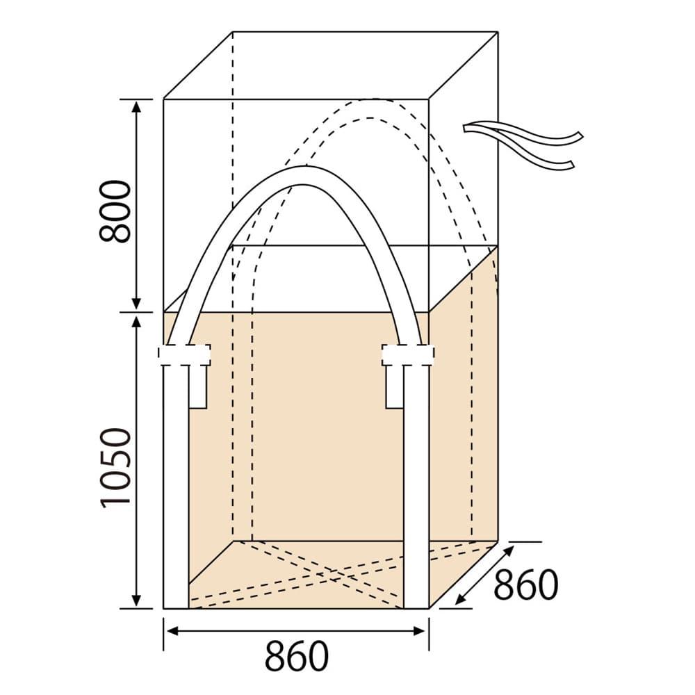 【ケース販売 】フレコンバッグ 角型 1050KS(SP)2W[4965815584656×10枚]【別送品】