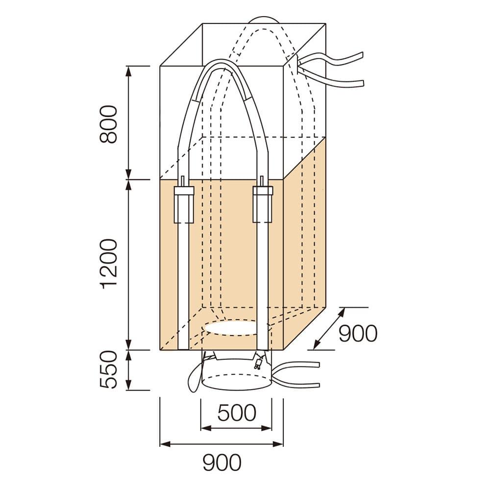 【ケース販売 】フレコンバッグ 角型 1200KHS-2[4965815584731×10枚]【別送品】