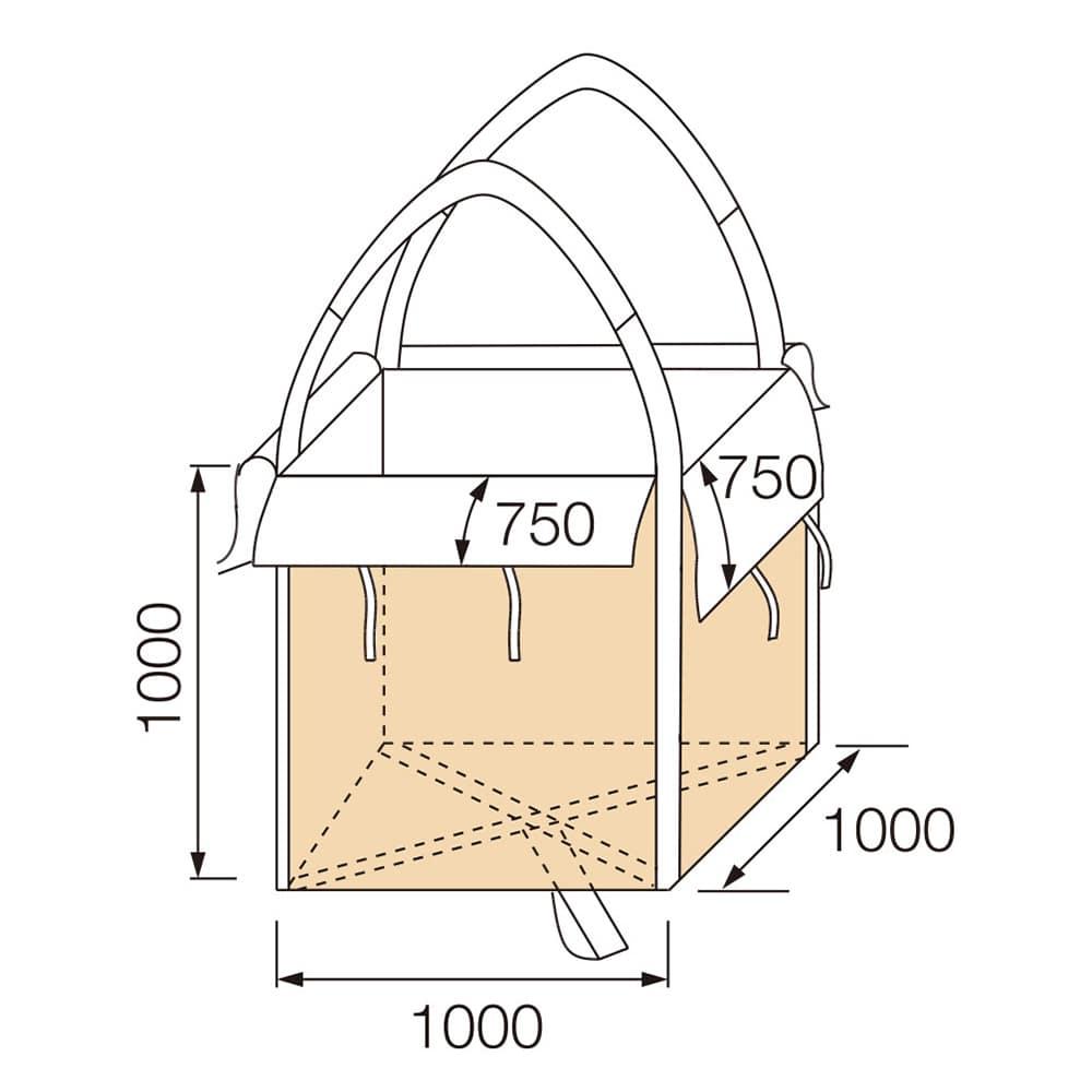 【ケース販売 】フレコンバッグ 角型 1000KS70B[4965815584748×10枚]【別送品】