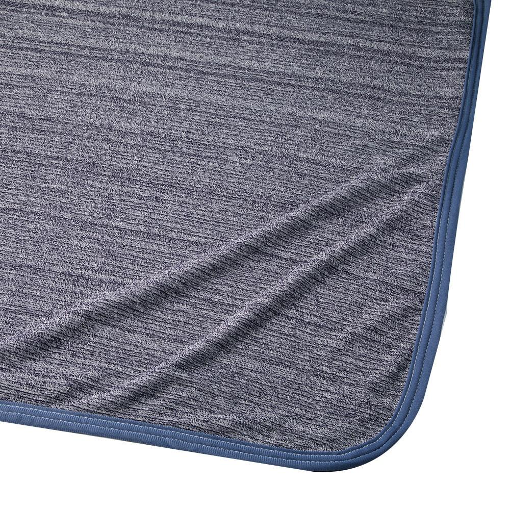 まるごともっとひんやり3点セット(ネイビー)ひんやりケット+敷きパッド+枕パッド