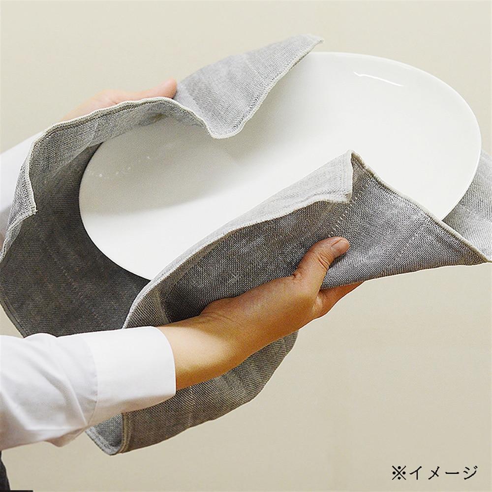 【trv・数量限定】ティータオル リネン 4枚重 35X70cm