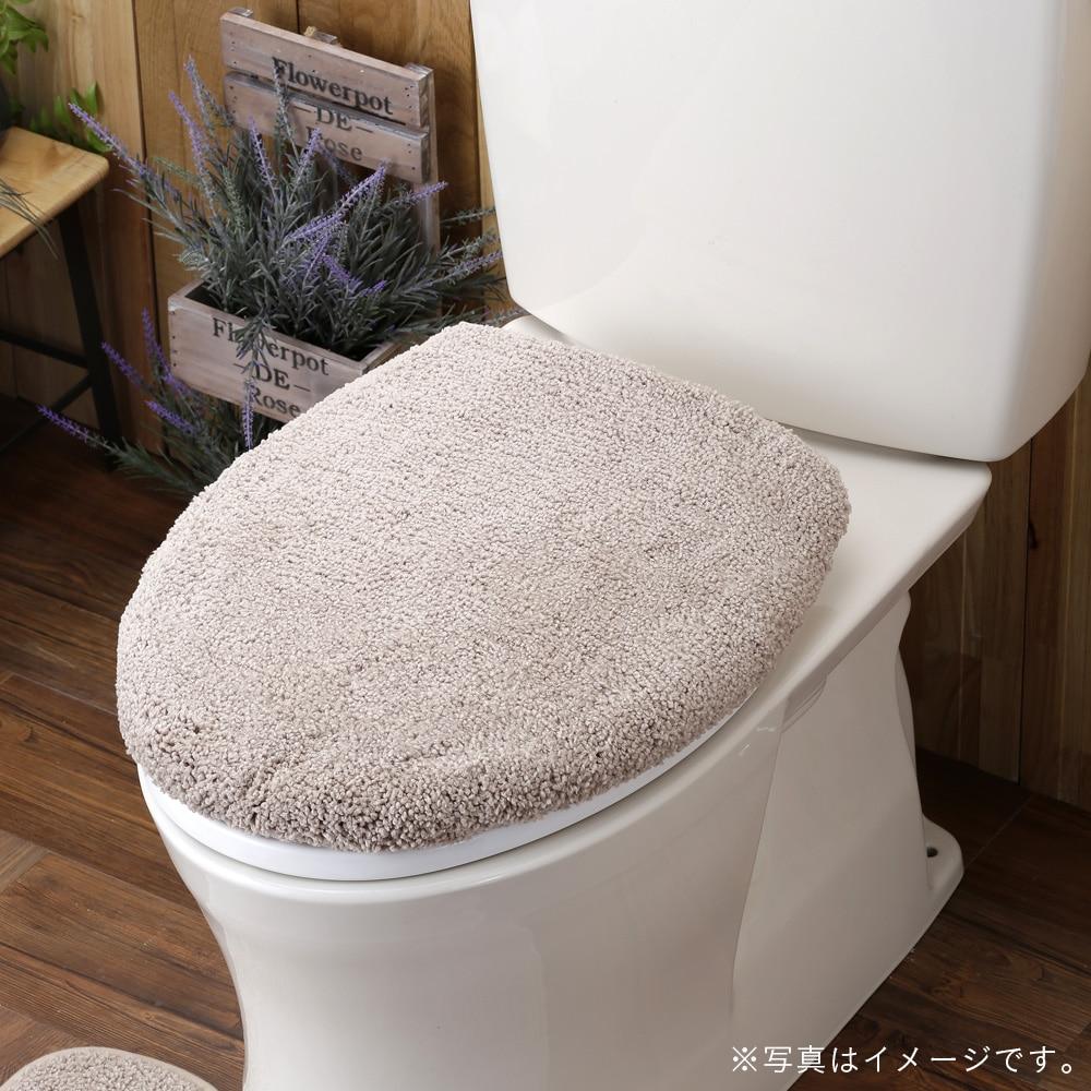 トイレフタカバー 洗浄型 ベージュ無地