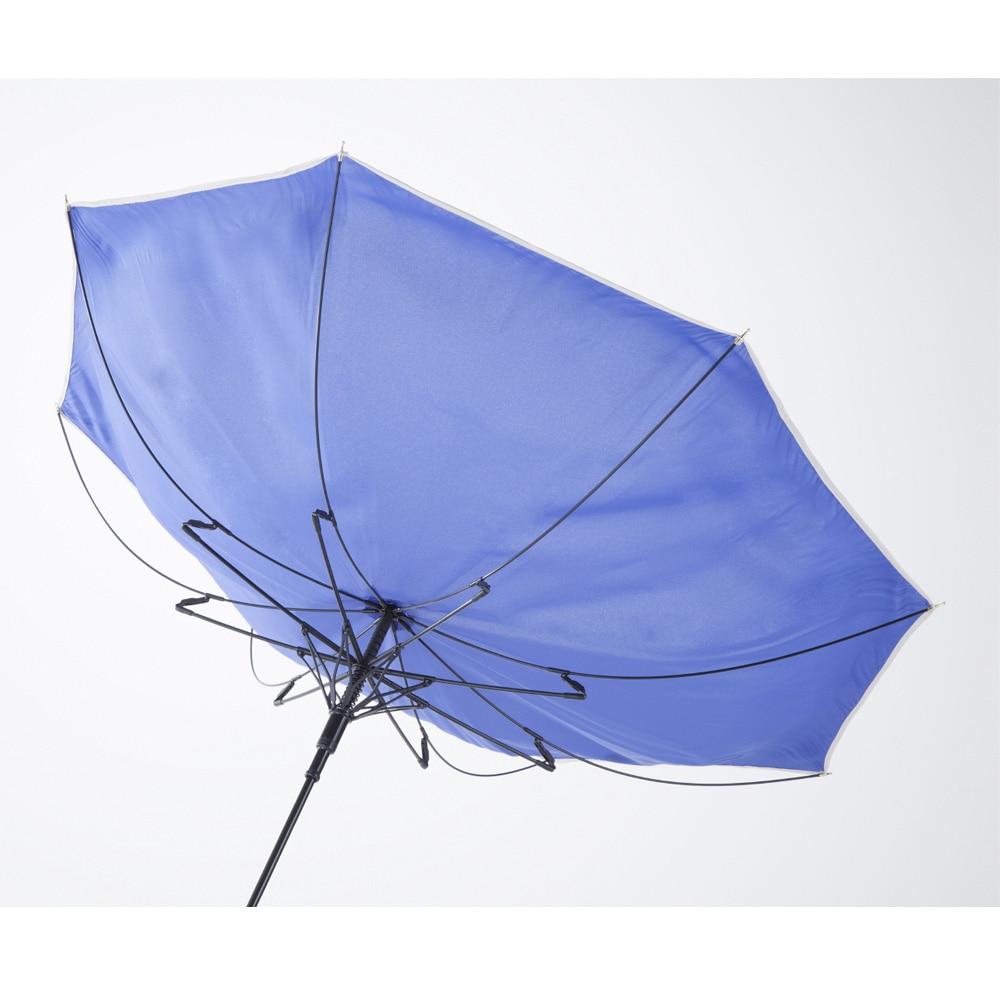 【数量限定】風に強い シームレス ジャンプ傘 60cm ブルー
