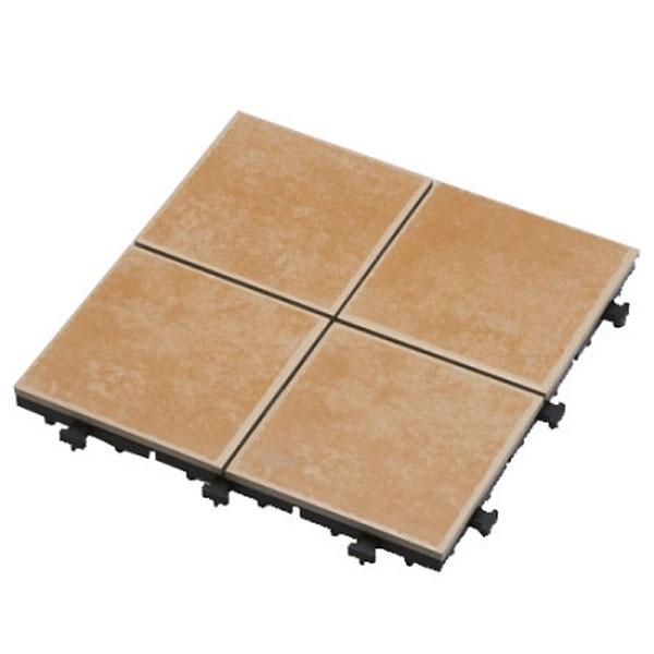 【ケース販売】ジョイントタイル ブラウン 4枚貼り×6枚入