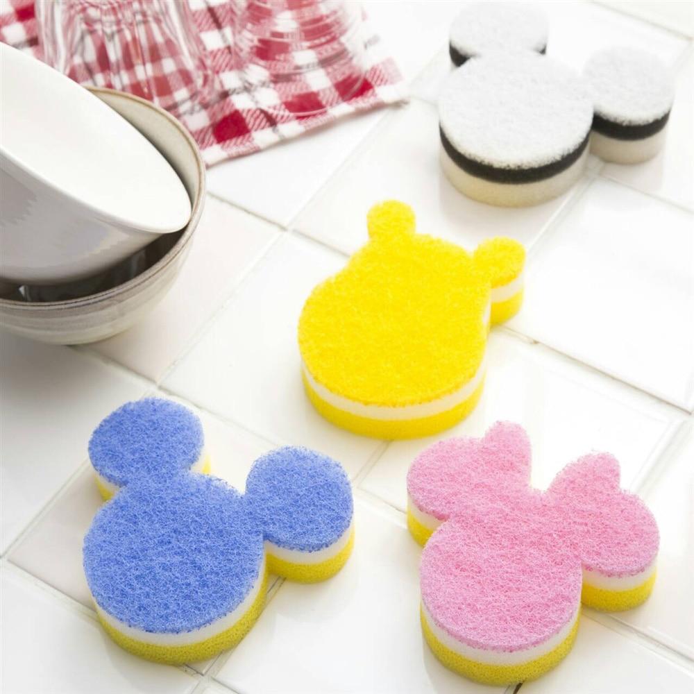 食器用スポンジ ミッキーマウス ホワイト