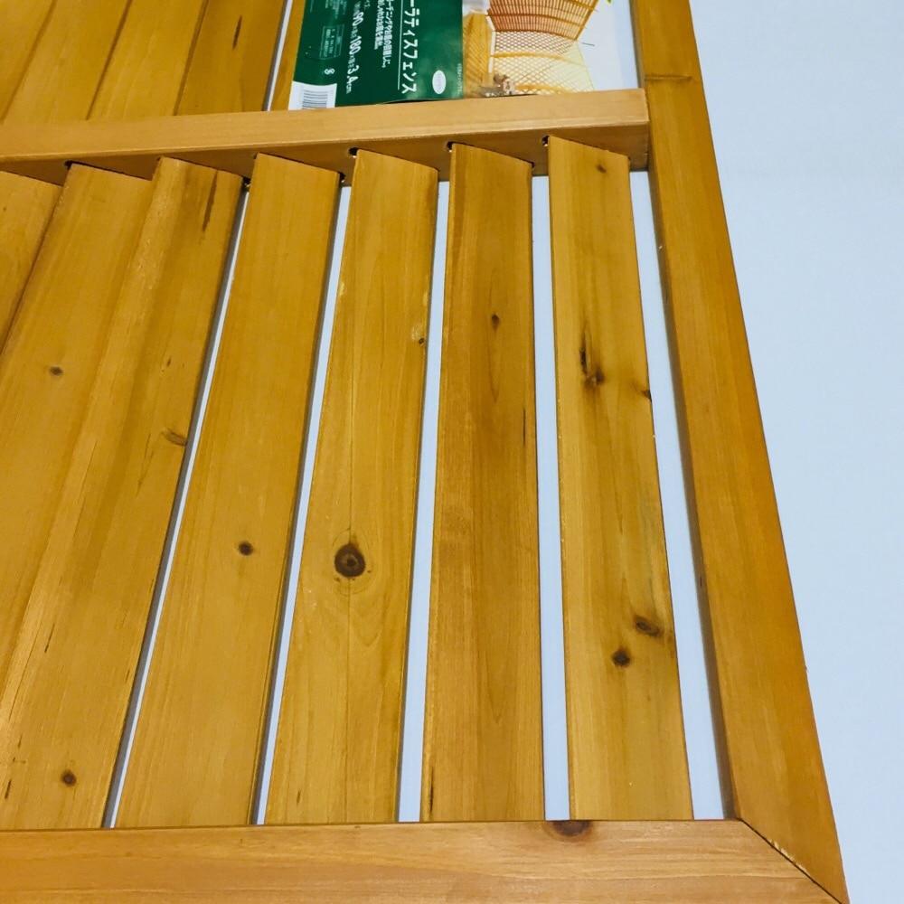 【SU】木製 ルーバーラティスフェンス 90×180cm
