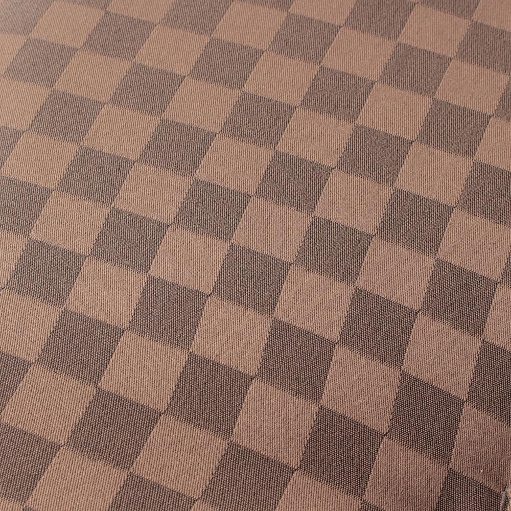 座布団 格子 ブラウン 55×59