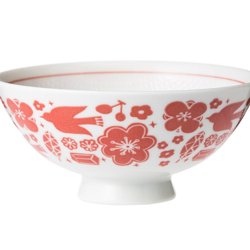 ごはんがつきにくい茶碗 中 hidamari レッド