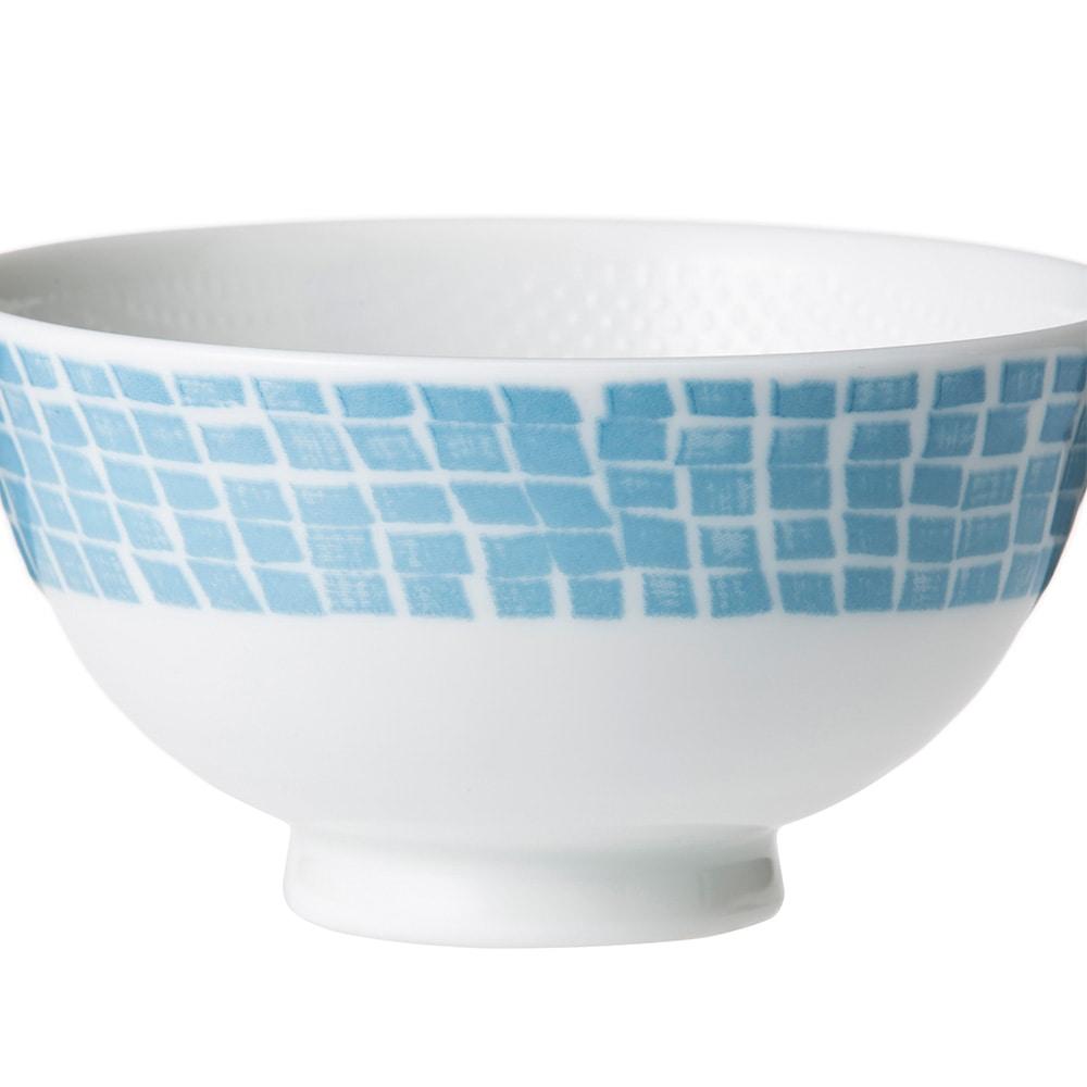 ごはんがつきにくい茶碗 小 blue tile