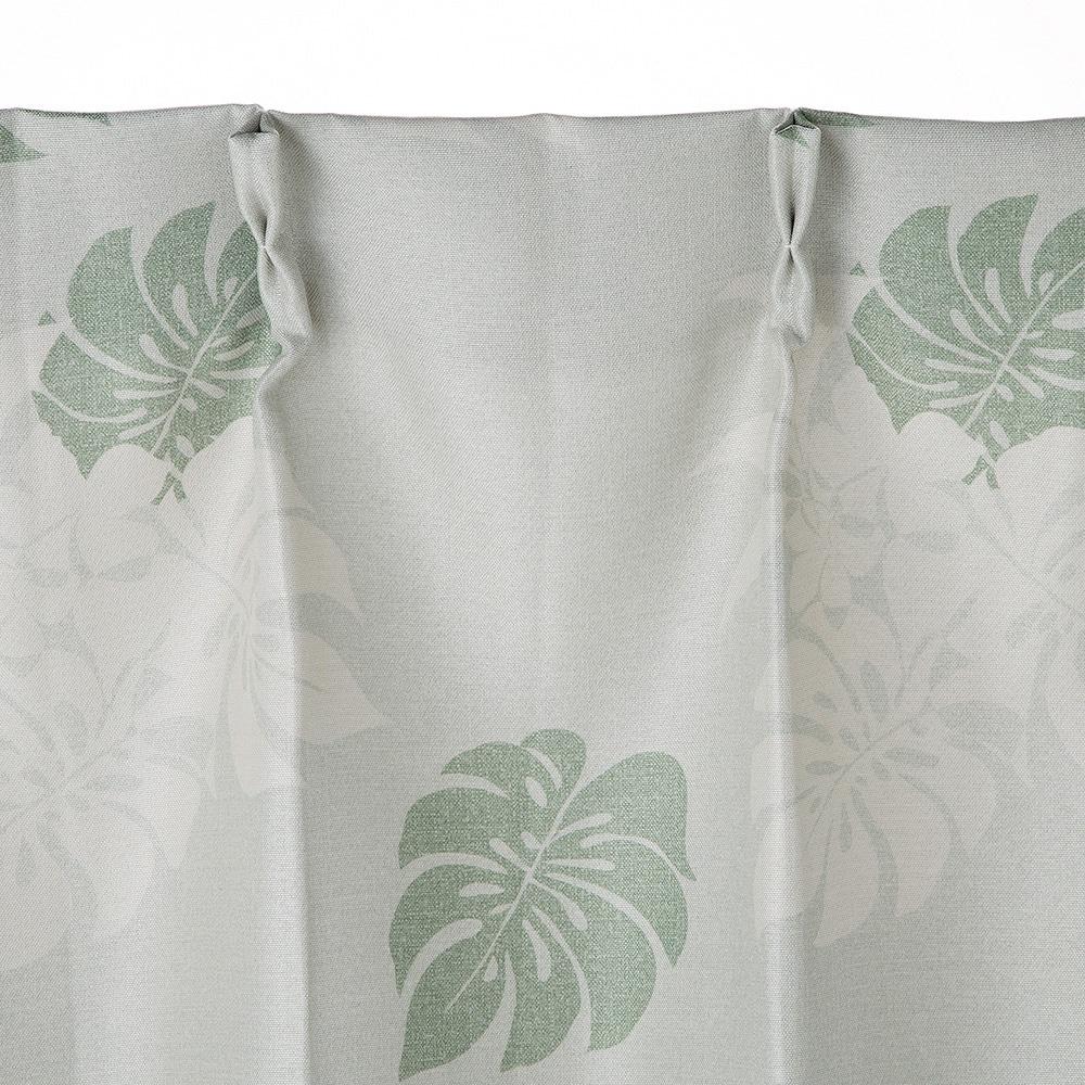 遮光性カーテン モンステラ グリーン 100×178 2枚組