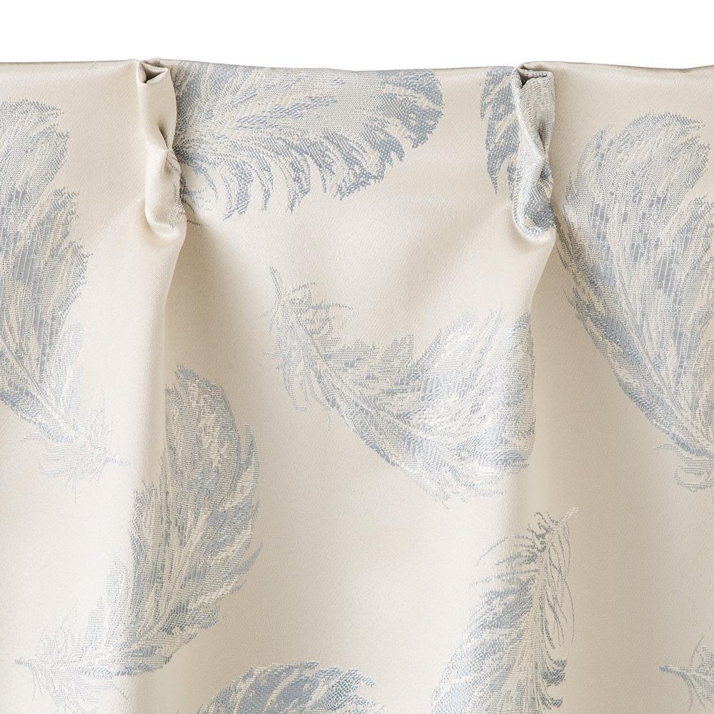 裏地付きカーテン フェザー ブルー 100×135 2枚組