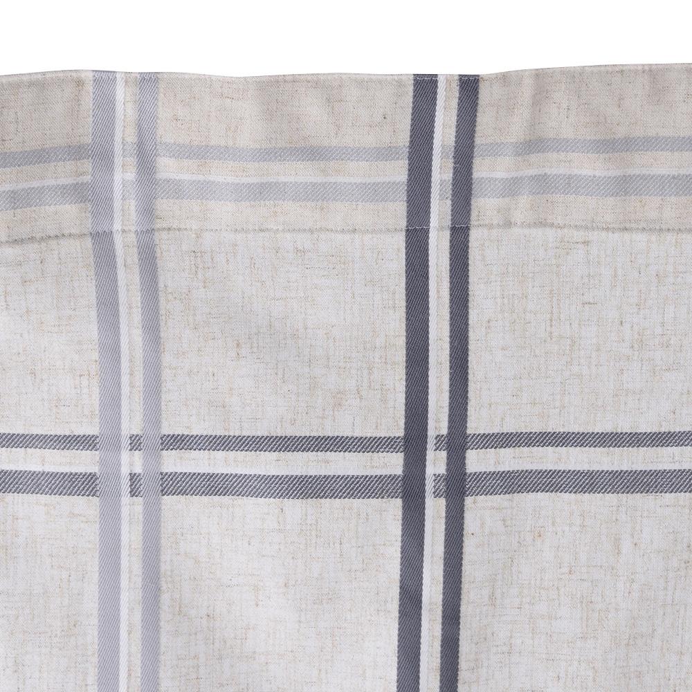 麻混フラットカーテン ナチュラル グレー 220×230 1枚入