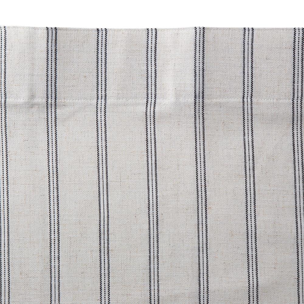 麻混フラットカーテン スタンダード アイボリー 110×135 2枚組
