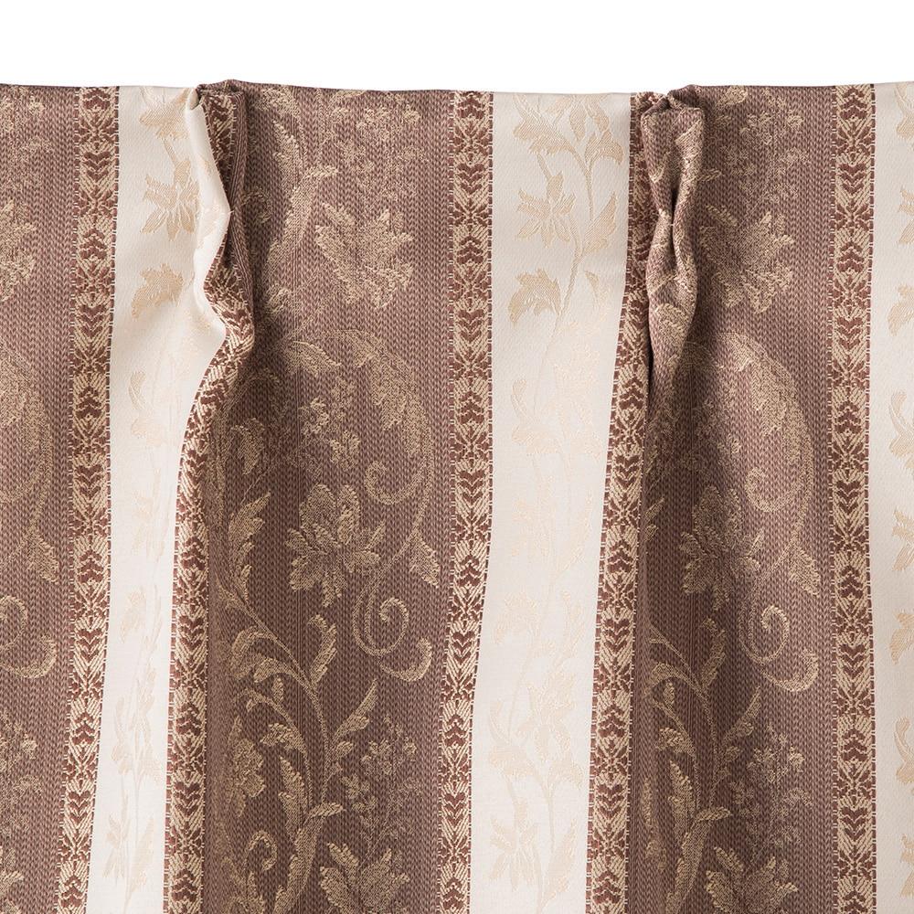 裏地付きカーテン ダマスク ブラウン 200×230 1枚入