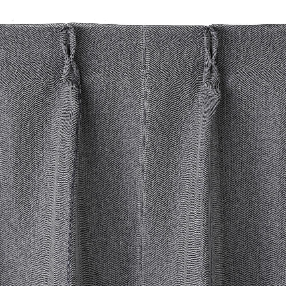 遮光性カーテン ドビー グレー 100×178 2枚組
