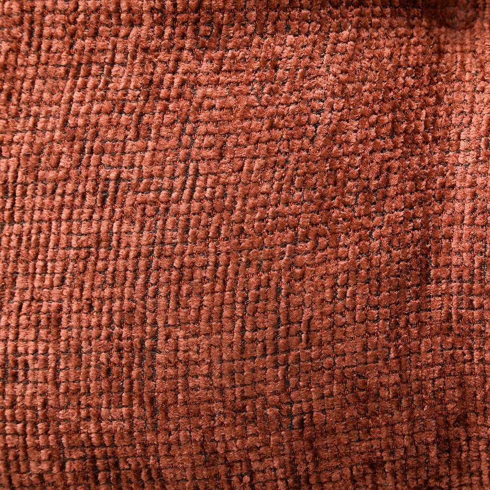 シェニールフロアクッション オレンジ 40×40