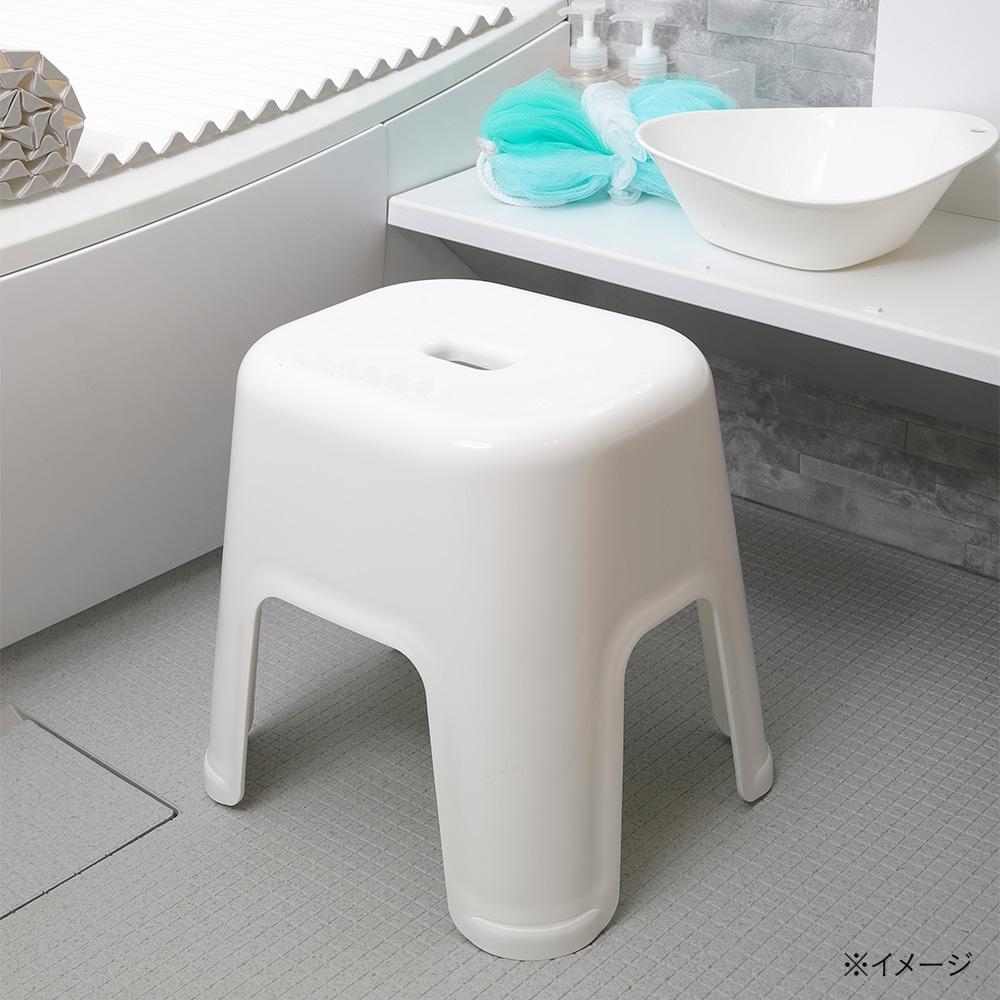汚れにくい 風呂イス 大 ホワイト