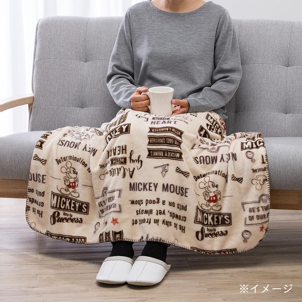 【2017秋冬】ひざ掛けミッキー ベージュ 70×100