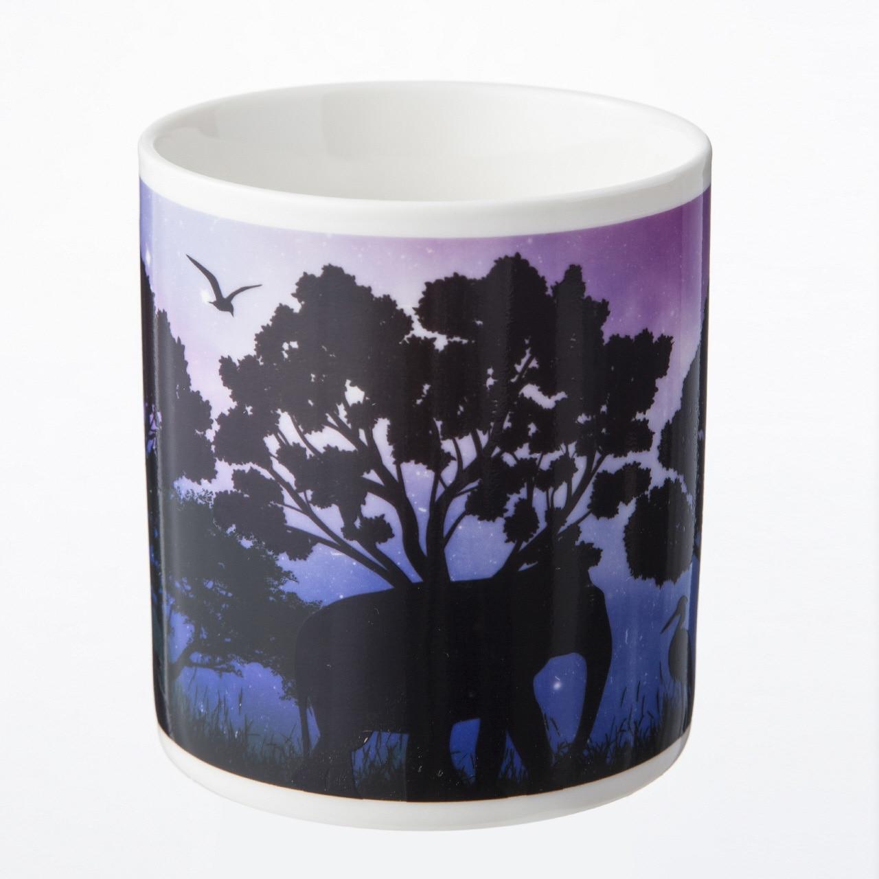 デザインが変わる魔法のマグカップ ナイトサファリ