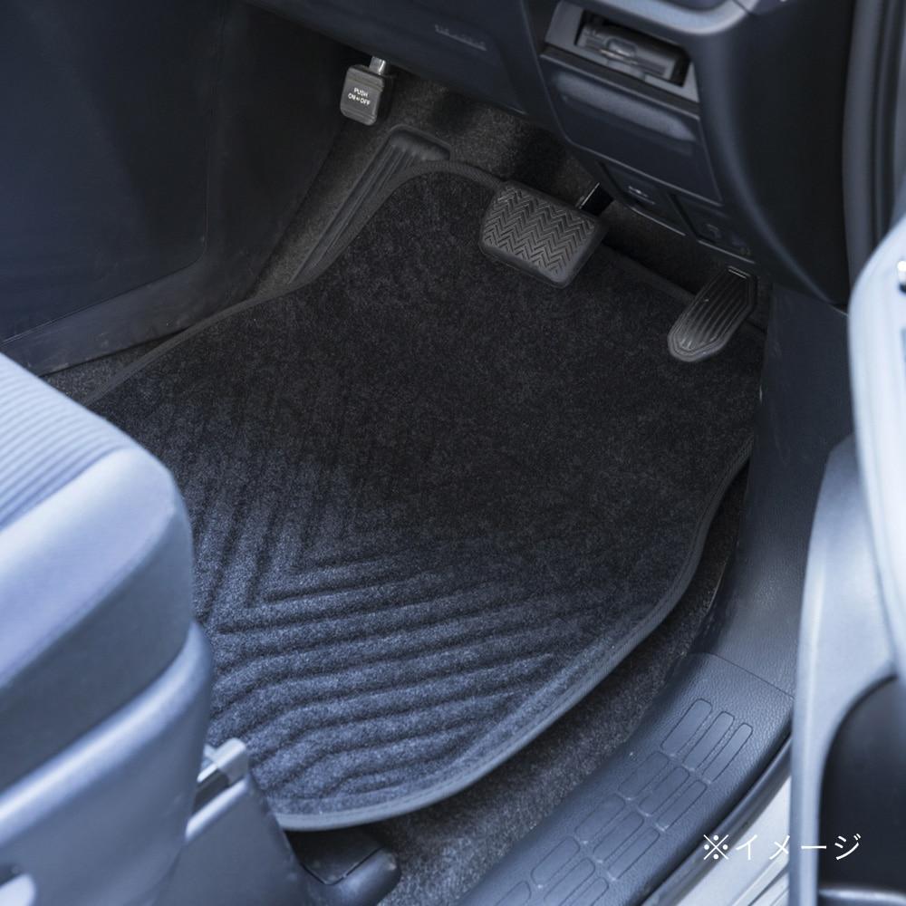 ずれにくい車内用バケットマット フロント用 ブラック