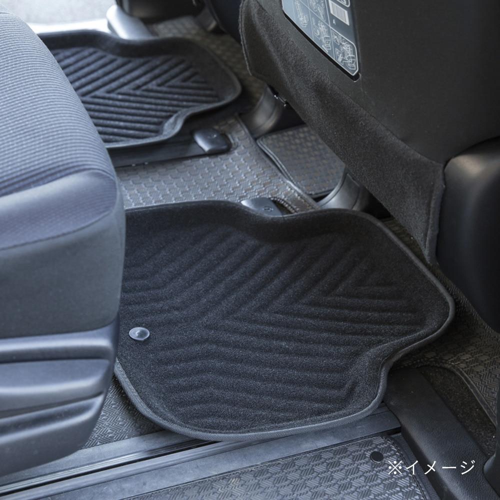 ずれにくい車内用バケットマット リア用 ブラック