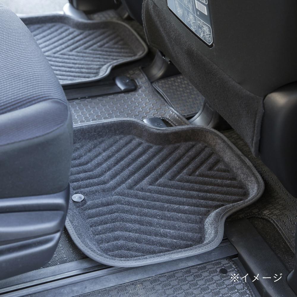 ずれにくい車内用バケットマット リア用 グレー