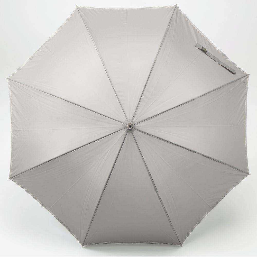 折れにくいジャンプ傘 65cm グレー