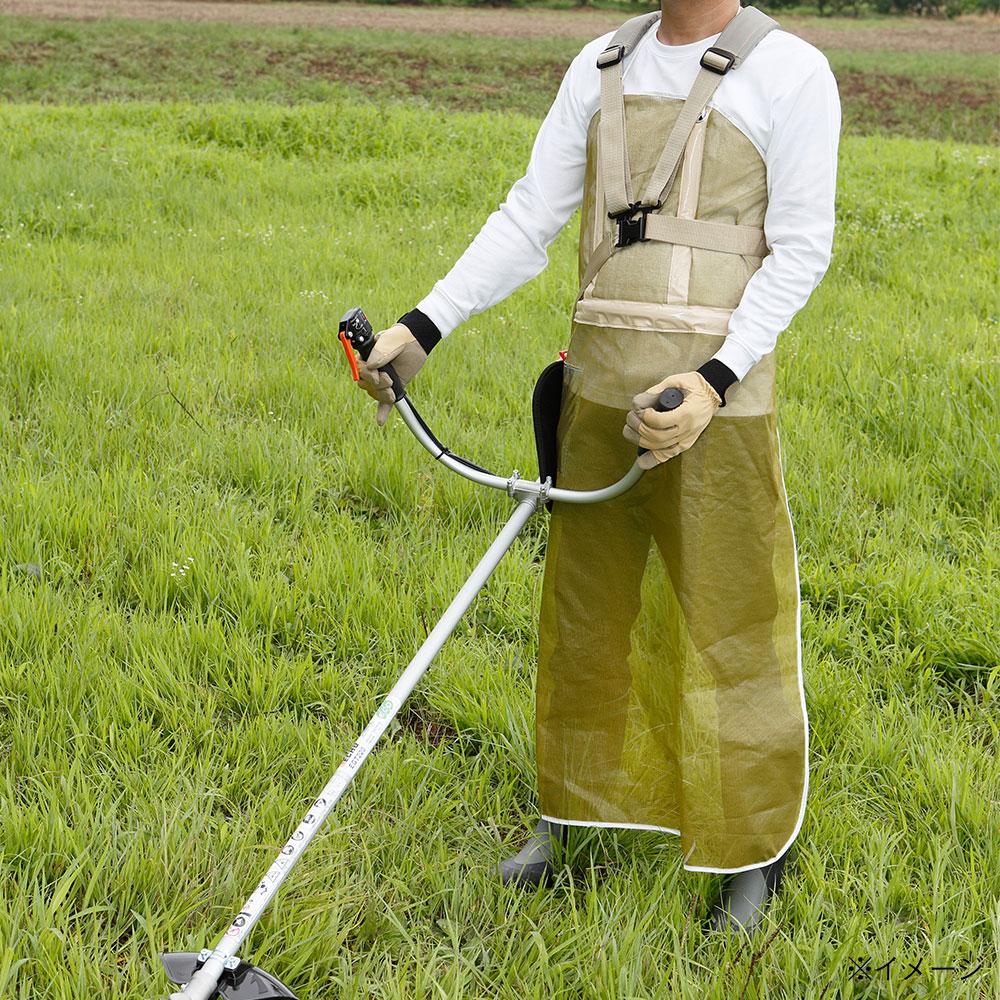 メッシュ草刈用エプロン(Lグリーン)