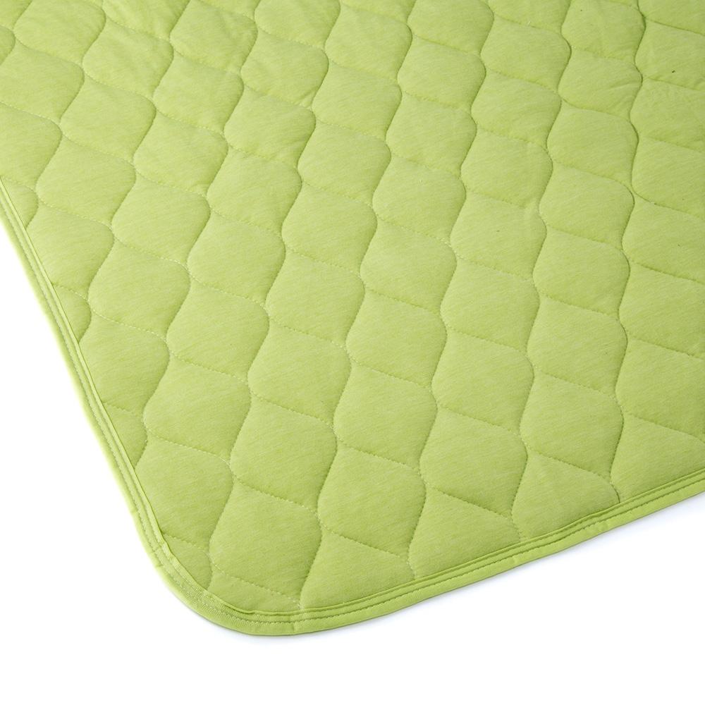 敷きパッド ニットグリーン ダブル 140×200