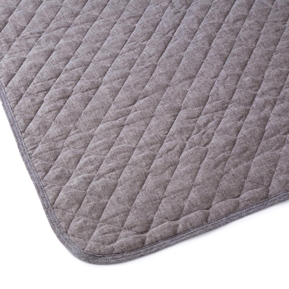 敷きパッド 綿麻 ブラウン セミダブル 120×200