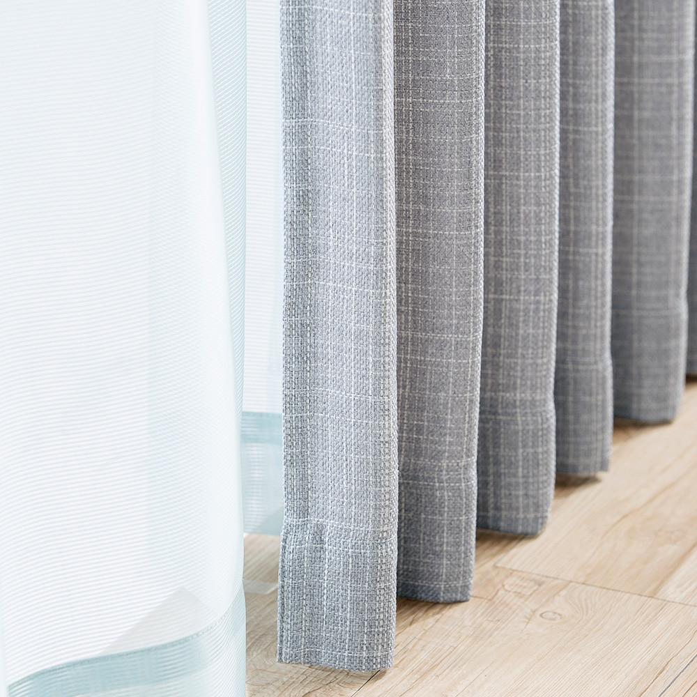 4枚組セットカーテン ウィンディアプレイン 100×178