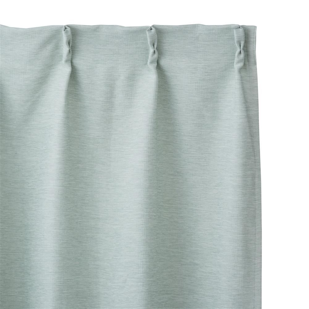 遮光防炎カーテンメホール グリーン 100×178 2枚組