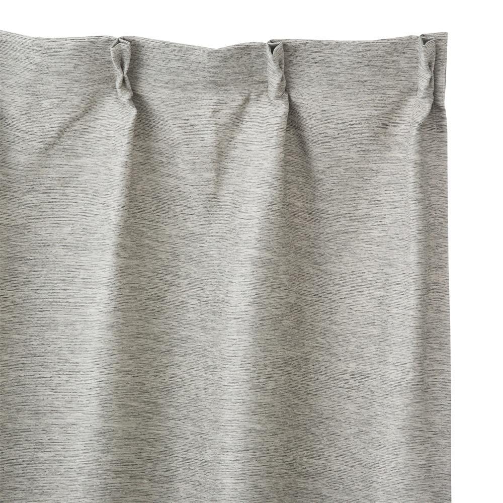 遮光防炎カーテンメホール グレー 100×185 2枚組