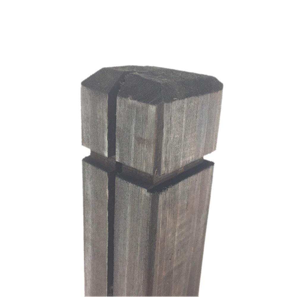木製ラティスポスト 6×6×90cm ダークブラウン