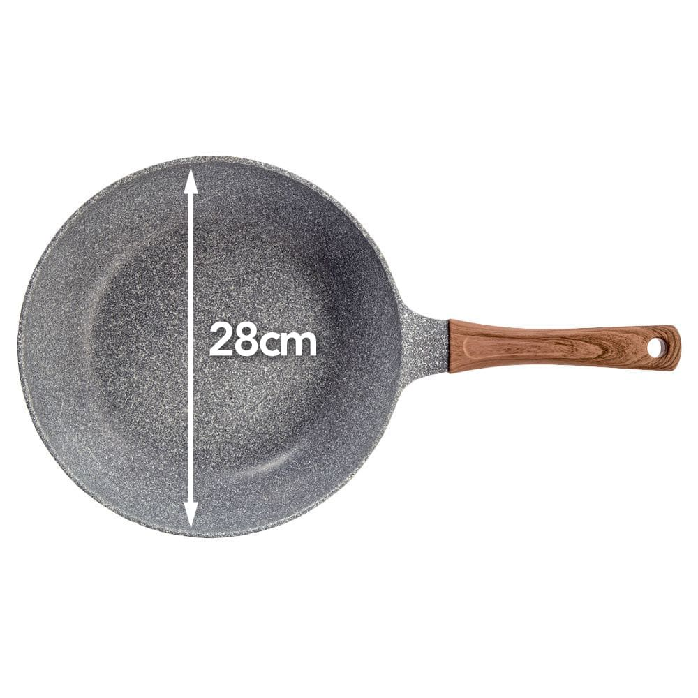 ストーンマーブル フライパン いため鍋 28cm(770g)