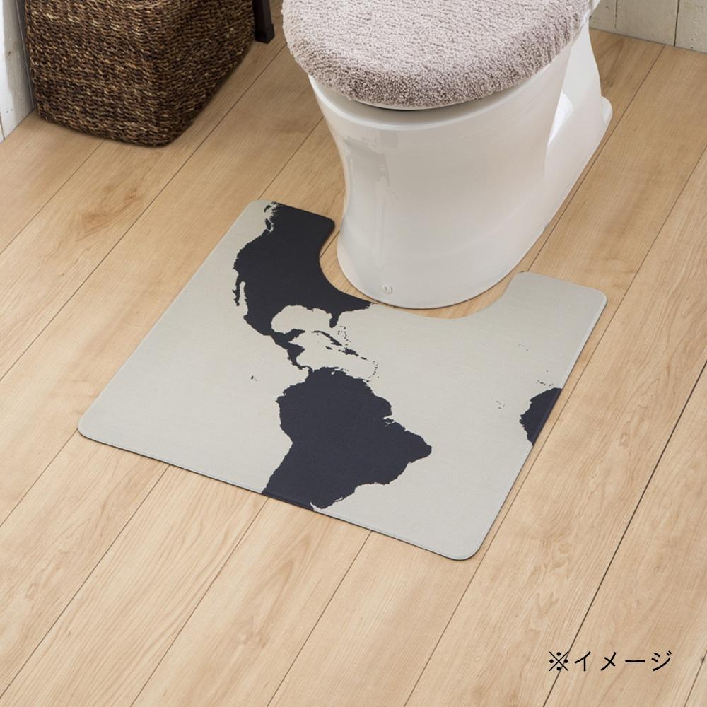 シートで拭けるトイレマット ワールド