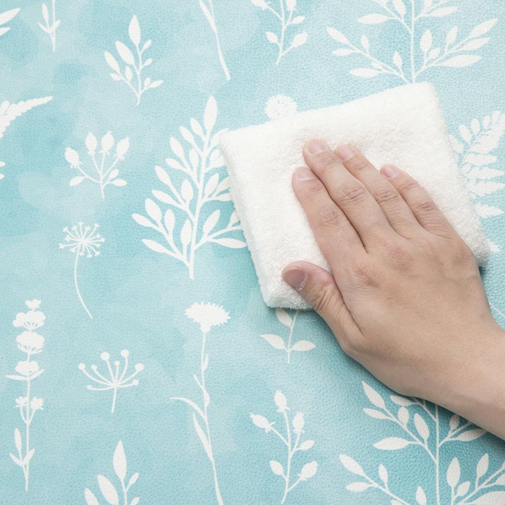 シートで拭けるトイレマット耳長 ターコイズ