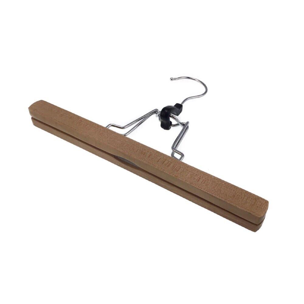 木製スラックスハンガー