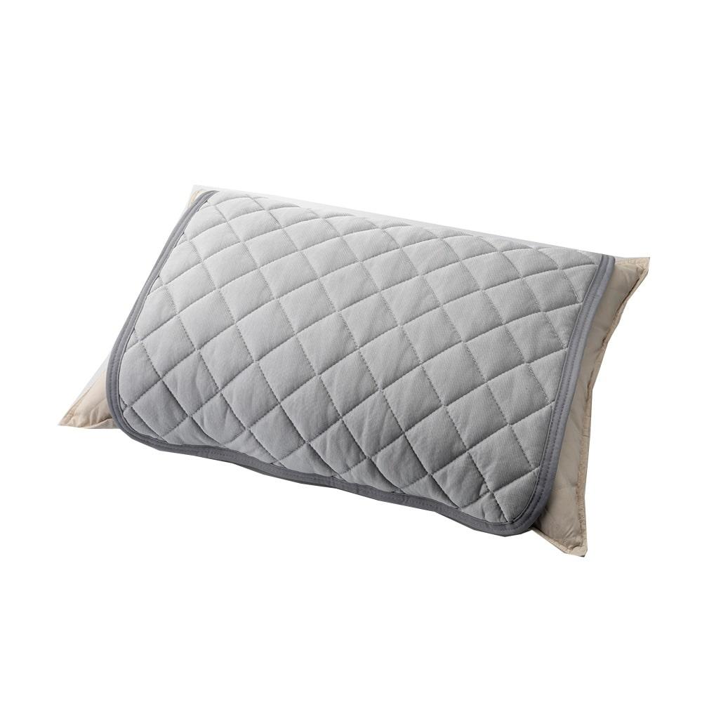 【数量限定・2019春夏】もっとひんやり消臭枕パッド グレー50×50