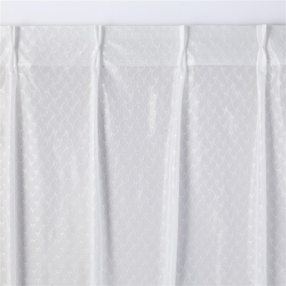 風を通すミラーレースカーテン エアリー 100×175 2枚組