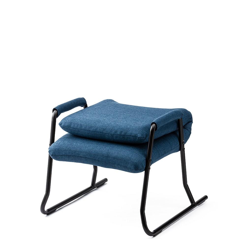 積み重ねて収納できる高座椅子 ネイビー
