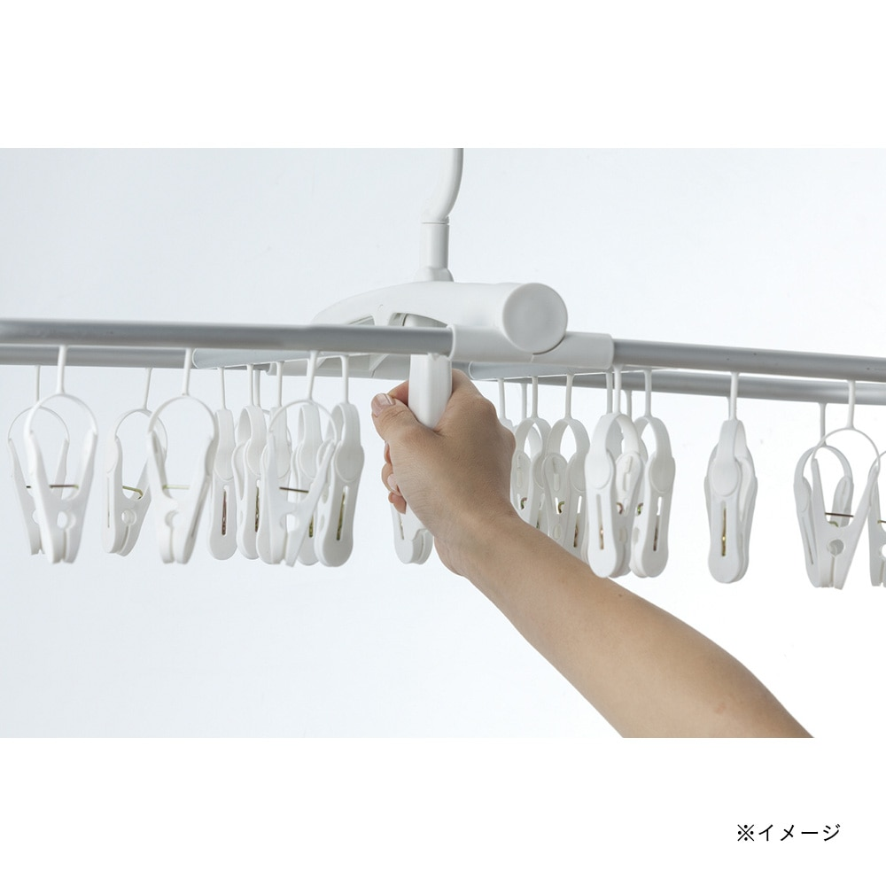 【2019春夏】インテリア洗濯ハンガー 40ピンチ ホワイト