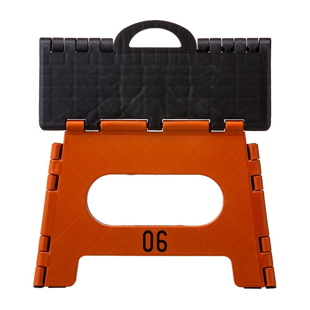 持ち運びしやすい折りたたみ踏み台 オレンジ