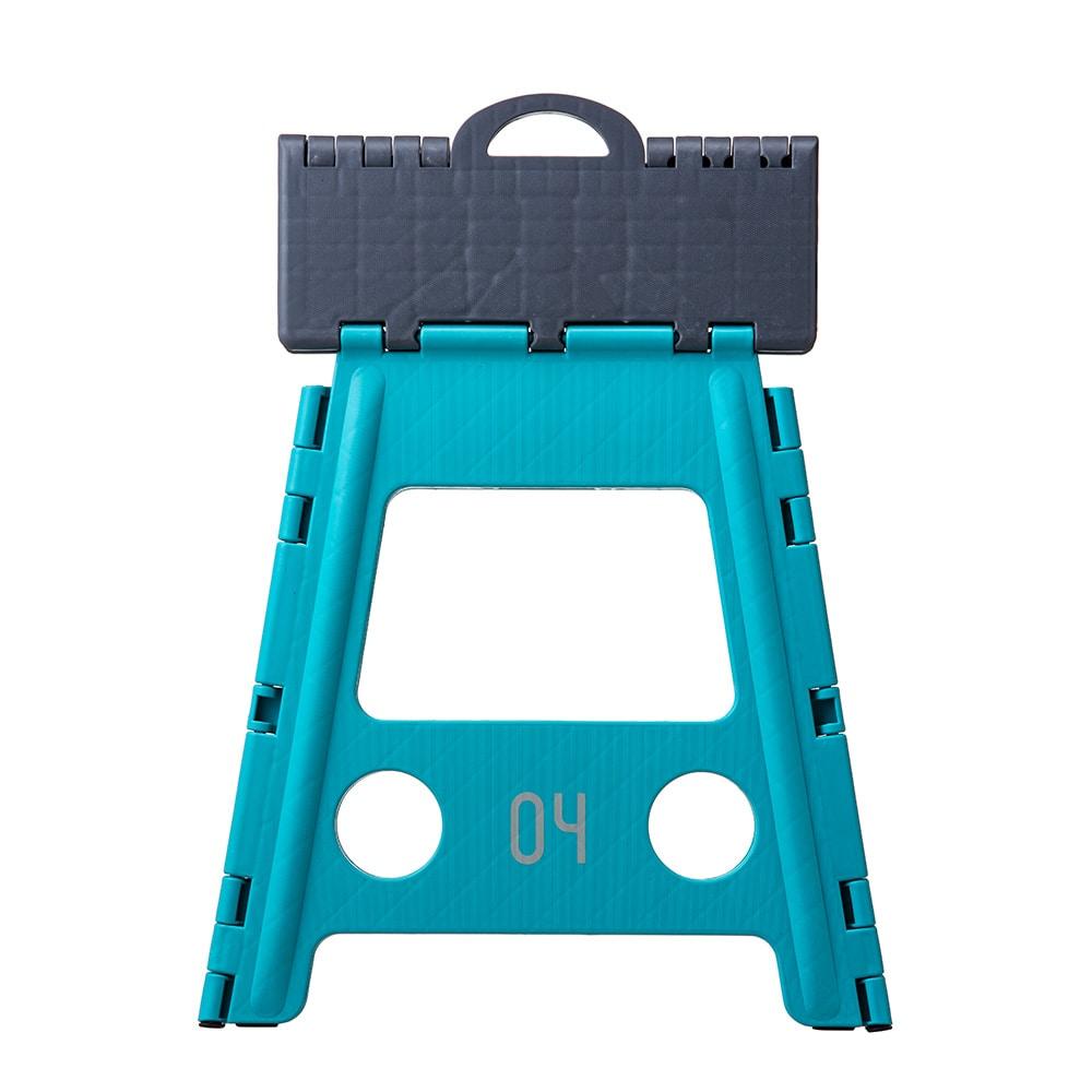 持ち運びしやすい折り畳み踏み台 ハイタイプ ブルー