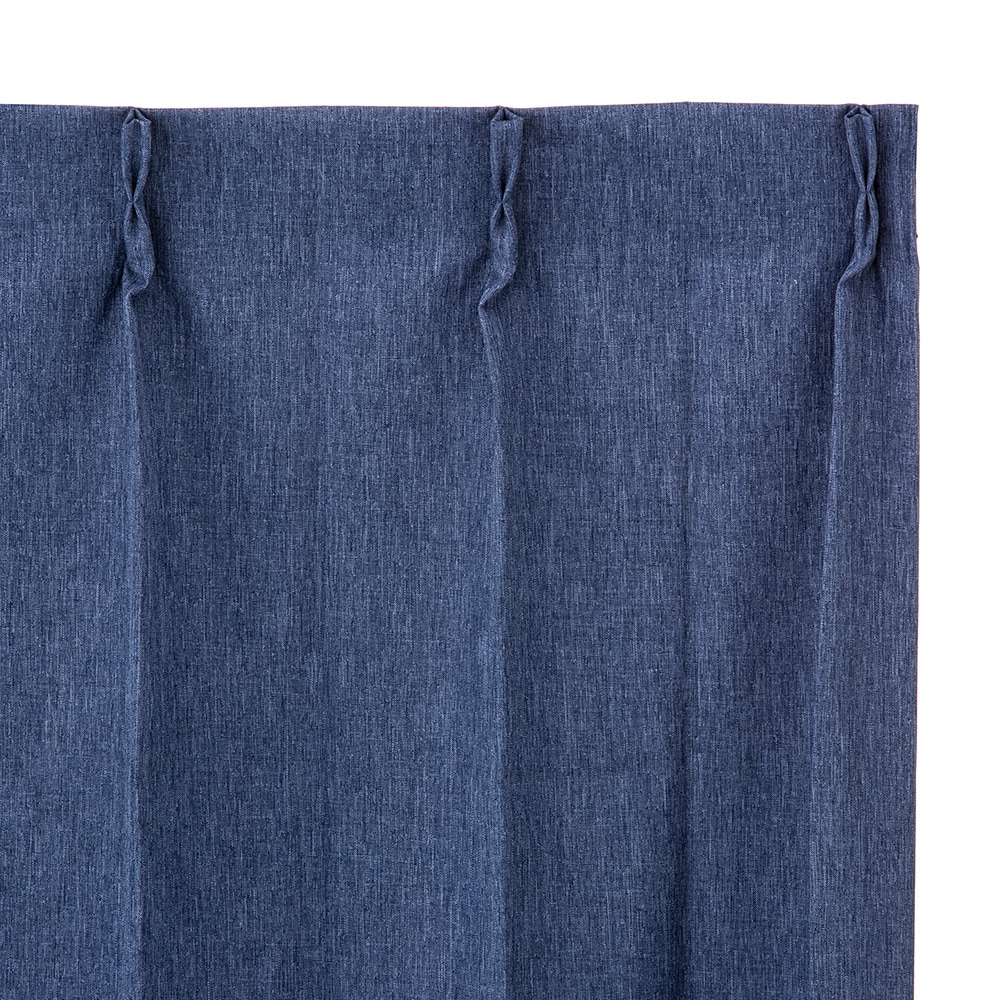 遮音遮熱遮光カーテン ニューコスモ ネイビー 100×178 2枚組